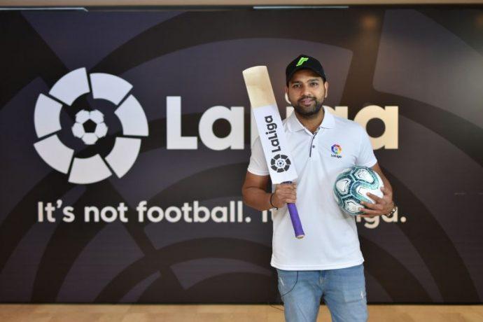 Cricket star Rohit Sharma, LaLiga's first ever brand ambassador in India. (Photo courtesy: LaLiga)