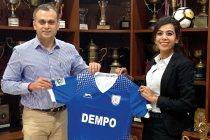 Dempo SC Chairman Shrinivas Dempo and Technical Director Anju Turambekar. (Photo courtesy: Dempo SC)
