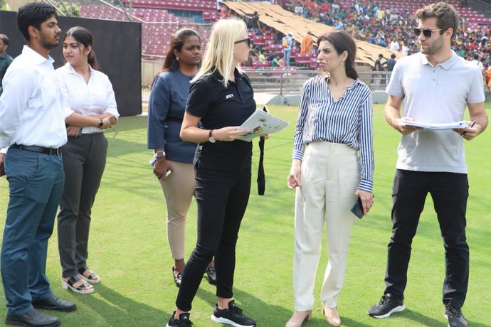 The FIFA and LOC delegation during their FIFA U-17 Women's World Cup India 2020 inspection at the DY Patil Stadium in Navi Mumbai. (Photo courtesy: FIFA U-17 Women's World Cup India 2020)