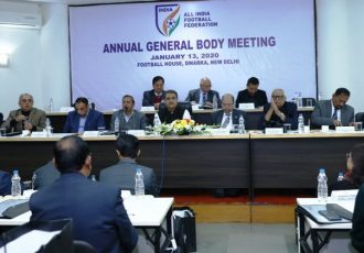 AIFF Annual General Body Meeting at the Football House, Dwarka, New Delhi. (Photo courtesy: AIFF Media)