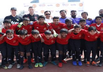 Apollo Tyres and Manchester United have launched the 'United We Play' programme. (Photo courtesy: Apollo Tyres)