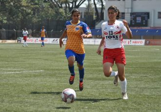 Indian Women's League (IWL) match action between BBK DAV FC and FC Kolhapur City. (Photo courtesy: AIFF Media)