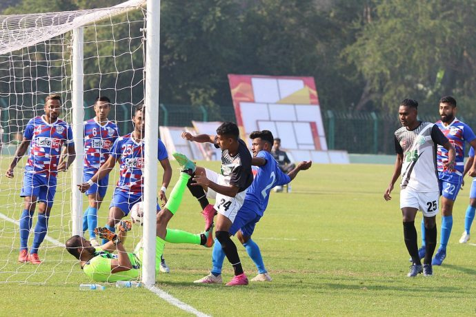 2nd Division League match action between Mohammedan Sporting Club and Bhowanipore FC. (Photo courtesy: Mohammedan Sporting Club)