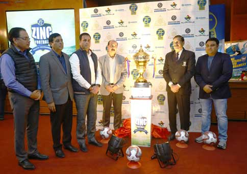 Launch ceremony of the Zinc Football Youth Tournament, a tournament organised by Hindustan Zinc in partnership with the Rajasthan Football Association. (Photo courtesy: Hindustan Zinc)