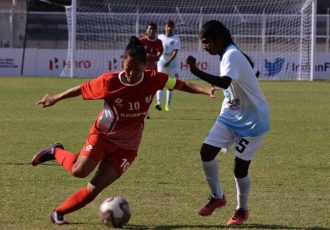 Bala Devi in action during an Indian Women's League (IWL) match. (Photo courtesy: AIFF Media)