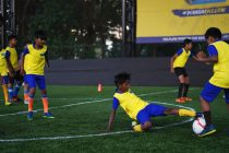 Participants of the KBFC Young Blasters program. (Photo courtesy: Kerala Blasters FC)