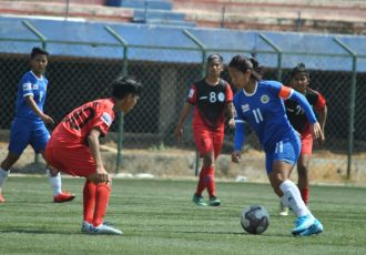 Indian Women's League match action between Kryphsa FC and Baroda Football Academy. (Photo courtesy: AIFF Media)