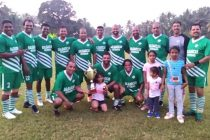 The Salgaocar FC Legends team after the exhibition match. (Photo courtesy: Salgaocar FC)