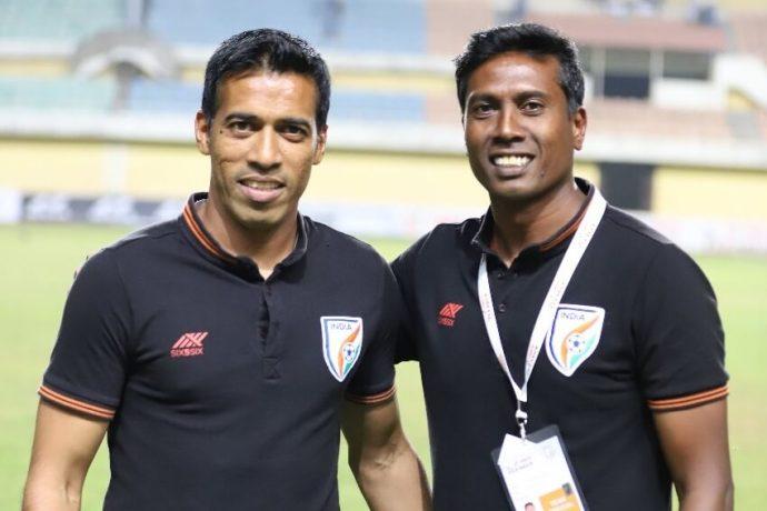 Mahesh Gawli and Shanmugham Venkatesh. (Photo courtesy: AIFF Media)