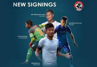 Aizawl FC's four signings in the winter transfer window. (Image courtesy: Aizawl FC)