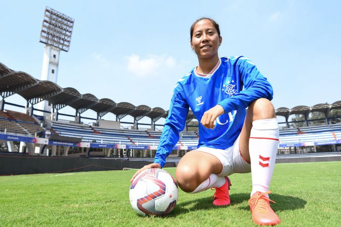 Rangers FC's new signing: Indian Women's national team star Bala Devi. (Photo courtesy: Bengaluru FC)