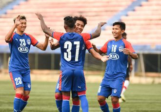 Bengaluru FC B Team players during a BDFA Super Division League match. (Photo courtesy: Bengaluru FC)