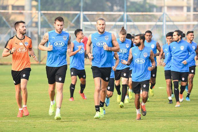 Bengaluru FC training session. (Photo courtesy: Bengaluru FC)