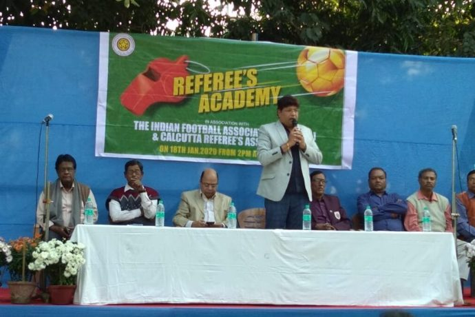 The Indian Football Association (IFA), along with the Calcutta Referee's Association, have re-launched the Referee's Academy in Kolkata. (Photo courtesy: AIFF Media)