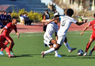 Hero I-League match action between Aizawl FC and Churchill Brothers FC. (Photo courtesy: I-League Media)