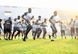 Gokulam Kerala FC training session at the EMS Stadium in Kozhikode. (Photo courtesy: I-League Media)