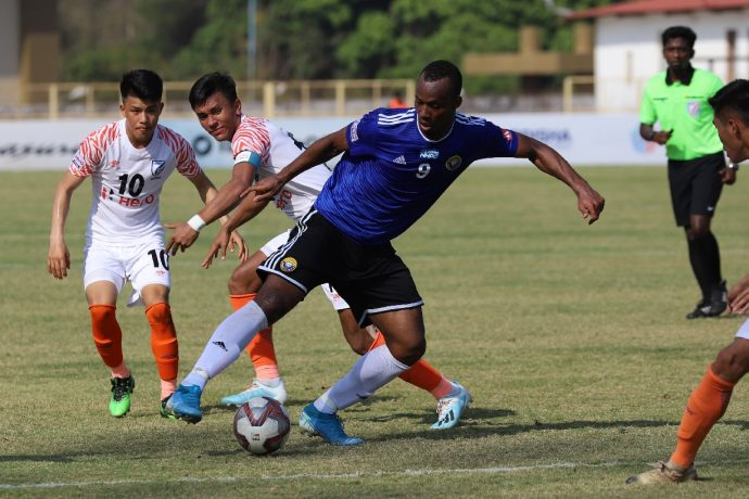 I-League match action between Indian Arrows and Real Kashmir FC. (Photo courtesy: I-League Media)