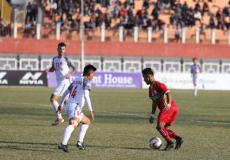 I-League match action between TRAU FC and Aizawl FC. (Photo courtesy: I-League Media)