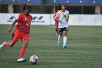Indian Women's League (IWL) match action between Odisha Police and Bangalore United FC. (Photo courtesy: AIFF Media)