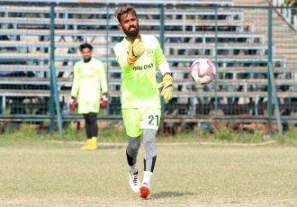 Mohammedan Sporting Club goalkeeper and vice-captain Priyant Singh. (Photo courtesy: Mohammedan Sporting Club)