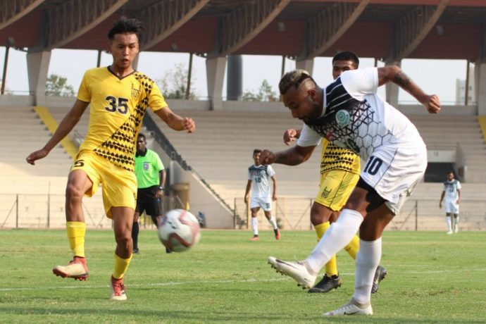 2nd Division League match action between Hyderabad FC Reserves and Mohammedan Sporting Club. (Photo courtesy: Mohammedan Sporting Club)