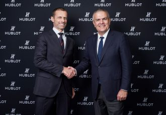 UEFA President Aleksander Čeferin and Hublot CEO Ricardo Guadalupe. (Photo courtesy: Hublot)