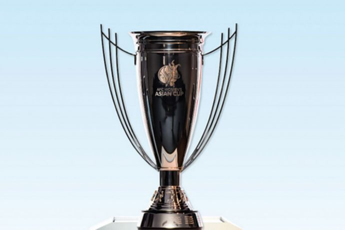 The AFC Women's Asian Cup Trophy. (Photo courtesy: FIFA U-17 Women's World Cup India 2020 LOC)