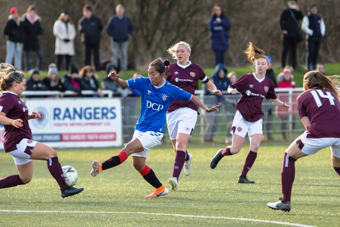Ngangom Bala Devi in action for Ranger WFC in the Scottish Women's Premier League. (Photo courtesy: AIFF Media)