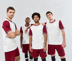 FC Bayern Munich players present the club's special-edition 120th anniversary jersey created by adidas. (Photo courtesy: adidas)