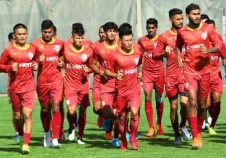 The Indian national team during a training session. (Photo courtesy: AIFF Media)