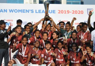 2019/20 Indian Women's League (IWL) champions Gokulam Kerala FC. (Photo courtesy: AIFF Media)
