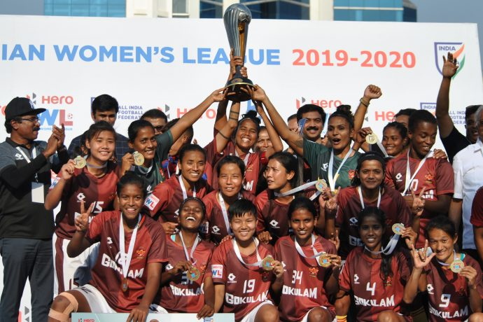 2019/20 Indian Women's League (IWL) champions Gokulam Kerala FC. (Photo courtesy: AIFF Media)