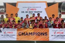 2020 Dr BC Roy Trophy champions Mizoram. (Photo courtesy: AIFF Media)