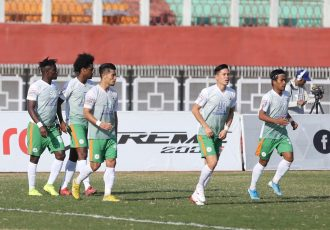 Neroca FC players during a Hero I-League match. (Photo courtesy: I-League Media)