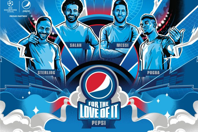 #FORTHELOVEOFIT – Pepsi® premieres its 2020 international football campaign. (© PRNewsfoto/PepsiCo)