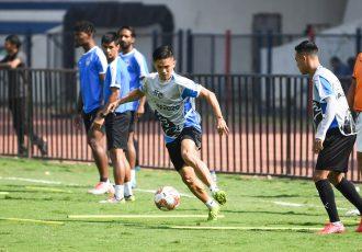 Sunil Chhetri during a Bengaluru FC training session at the Sree Kanteerava Stadium. (Photo courtesy: Bengaluru FC)