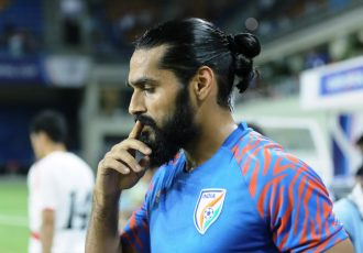 Indian national team defender Sandesh Jhingan. (Photo courtesy: AIFF Media)