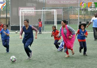 AIFF and FIT India join hands to celebrate AFC Women's Football Day across the country. (Photo courtesy: AIFF Media)