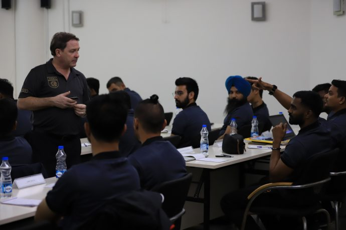 All India Football Federation (AIFF) - International Professional Scouting Organisation (IPSO) scouting course at the Football House, in New Delhi. (Photo courtesy: AIFF Media)