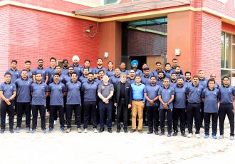 Participants of the All India Football Federation (AIFF) - International Professional Scouting Organisation (IPSO) scouting course at the Football House, in New Delhi. (Photo courtesy: AIFF Media)
