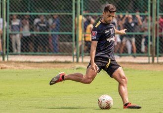 Chennaiyin FC forward André Schembri during a training session. (Photo courtesy: Chennaiyin FC)