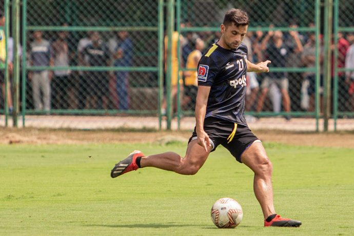 Chennaiyin FC forward André Schembri during a training session. (Photo courtesy: Chennaiyin FC)