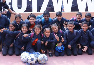 Participants of the 'Football for All' event organised by the FIFA U-17 Women's World Cup India 2020 LOC. (Photo courtesy: AIFF Media)