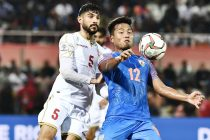 Jeje Lalpekhlua in action for the Indian national team. (Photo courtesy: AIFF Media)