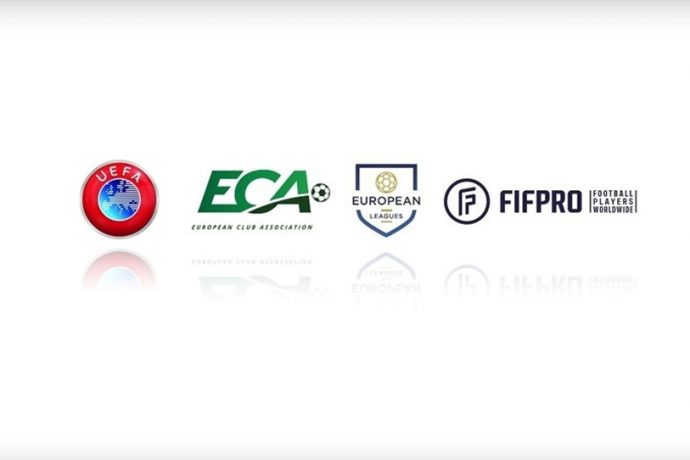UEFA - European Club Association (ECA) - European Leagues - FIFPRO Europe. (Image courtesy: UEFA)