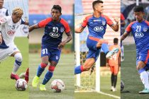 Bengaluru FC players Namgyal Bhutia, Leon Augustine, Ajay Chhetri and Naorem Roshan Singh. (Photos courtesy: Bengaluru FC)
