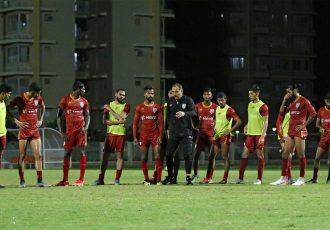 Indian national team head coach Igor Štimac and his squad during a training session. (Photo courtesy: AIFF Media)