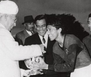 File picture of Indian football legend Chuni Goswami. (Photo courtesy: AIFF Media)