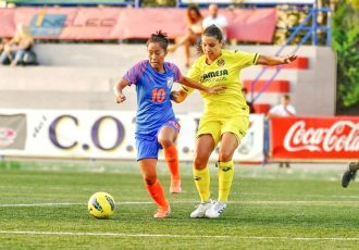 Indian Women's national team star Ngangom Bala Devi in action at the COTIF Tournament in Spain. (Photo courtesy: COTIF)