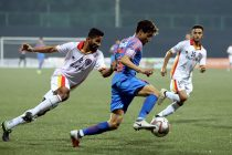 Indian Arrows' star Vikram Partap Singh in action in the Hero I-League. (Photo courtesy: AIFF Media)
